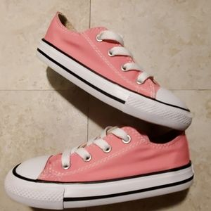 CONVERSE ALL STARS,  INFANT SIZE 9 PINK&WHITE EUC